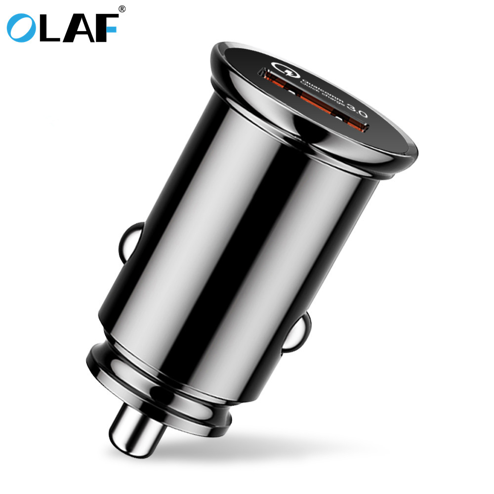 OLAF Mini Single <font><b>Port</b></font> <font><b>Quick</b></font> <font><b>Charge</b></font> QC <font><b>3.0</b></font> USB Car Charger For iPhone 6 7 <font><b>8</b></font> Plus X Fast Phone Charger For Samsung S8 S9 S10 Plus image
