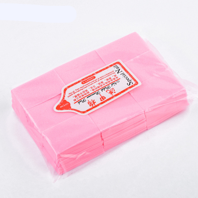 Nail Polish Remover Wipes Cleaning Lint Free Paper Pad Soak off Remover Manicure tool 4