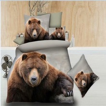 3D Cute Dog Bear Duvet Cover Set Bedding Set Pug King Queen Bed Set Comforter Bedding Set 3pcs