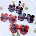Детские солнцезащитные очки Disney Mickey Mouse, вечерние солнцезащитные очки в форме раскладушки, подарки на день рождения для детей