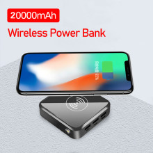 20000mAh Wireless Mini Power Bank Triple USB Fast Charging L