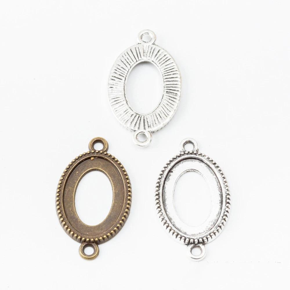 Wholesale 100pcs Antique SilverAntique Bronze Crown Pendant CharmFinding,fit 18mm Cabochon CameoPicture,Base Setting Tray Bezel