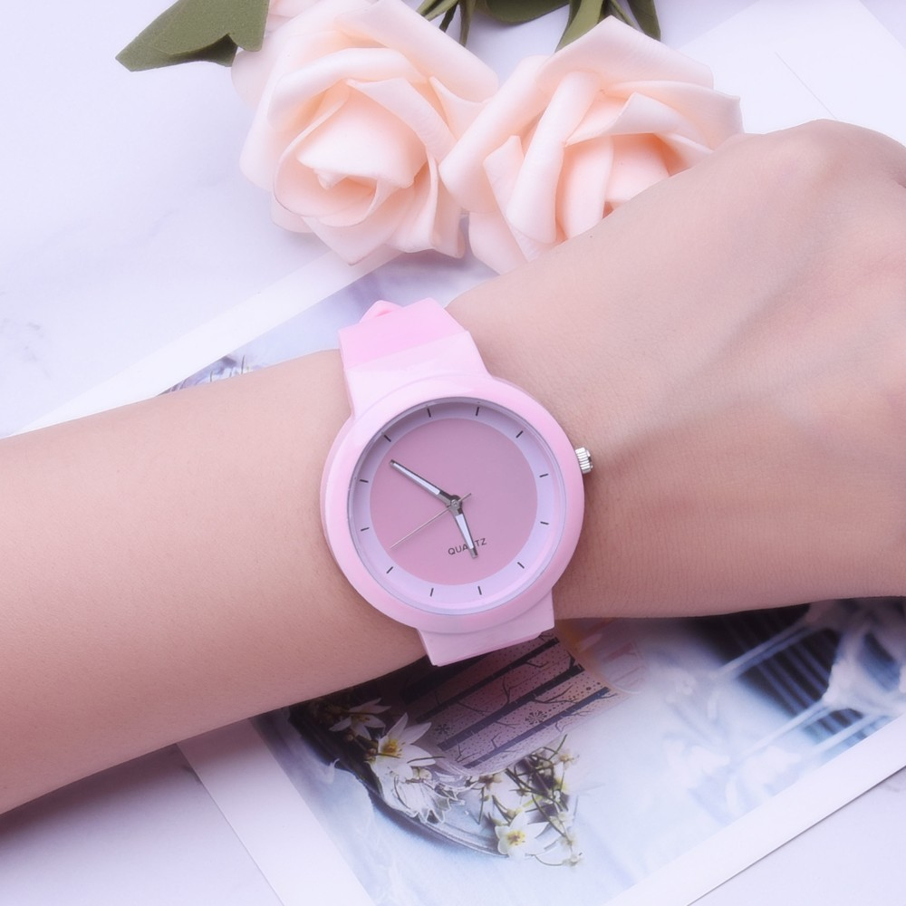 2020 New Fashion Women Watch Ins Trend Candy Color Wrist Watch Korean Silicone Jelly Wristwatch Reloj Mujer Clock Gifts Montre#W
