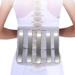 2020 Orthopedic Tourmaline Self-heating Magnetic Steel Bone Waist Widen Belt Men Women Lumbar Support Back Brace Belt 3pcs Pad