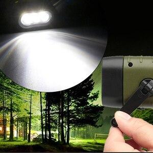 Image 2 - נייד פנס LED יד Crank דינמו לפיד פנס מקצועי שמש כוח אוהל אור חיצוני קמפינג העפלה