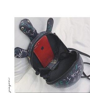 Image 5 - JIULIN 2019 nuevo lindo dibujos animados pequeña tortuga almohada bolsa retro simple hombro oblicuo span chica bolsa