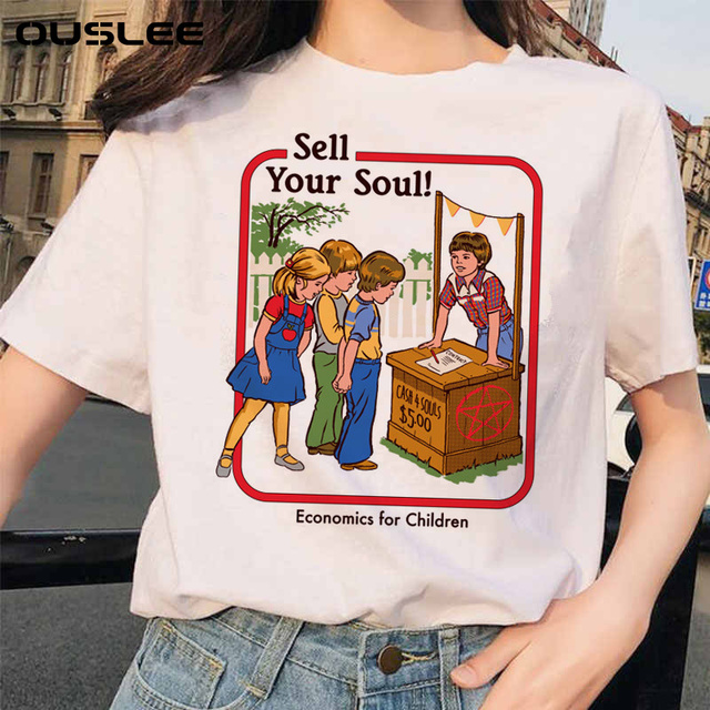 Летняя женская футболка  в японском стиле 2