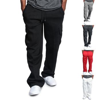 Modne kombinezony spodnie męskie spodnie dresowe luźna workowata biegaczy spodnie do biegania na co dzień kieszeń spodnie sportowe odzież męska tanie i dobre opinie Proste CN (pochodzenie) Plisowana Poliester NONE REGULAR 27 56 - 32 28 Men s Sports Pants Lekki Dobby Pełnej długości