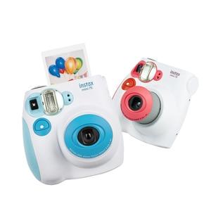 Image 2 - Fujifilm Instax Mini 7s anında Film fotoğraf kamerası mavi pembe siyah ücretsiz kargo, kabul Fuji Fujifilm Instax Mini Film