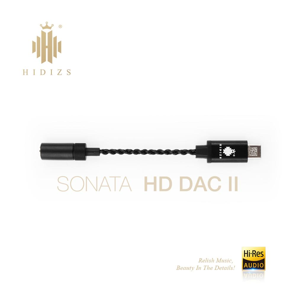 Hidizs Sonata II HD USB DAC Type C to 3 5mm Headphone Amplifier Adapter for Android