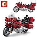 SEMBO Stadt Motorrad Speed Racing Auto Technische Moto Bausteine Motorrad Ziegel Idee Bildung Spielzeug Für Jungen Weihnachts Geschenk