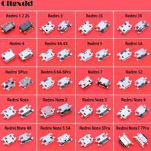 Cltgxdd 20Models 5Pin Micro USB Jack Socket Connector Charging Port 5P Female For Xiaomi Redmi 1 2 2S 3 3S 3X 4 4A 4X 5 5A 5Plus cltgxdd 5 10pcs headphone audio jack socket for xiaomi 4 4c 5x a1 redmi 1s 2 2a 3 3s 3x 4a 4pro prime max2 note 1 2 3 3pro 4 4x