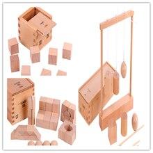 Новые деревянные детские игрушки froebel gabe 2  3 5 развивающие