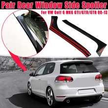 Pair Gloss Black Rear Window Side Spoiler Spoiler Canard Canards Splitter For VW Golf 6 MK6 GTI/GTR/GTD 2008 2009-2013