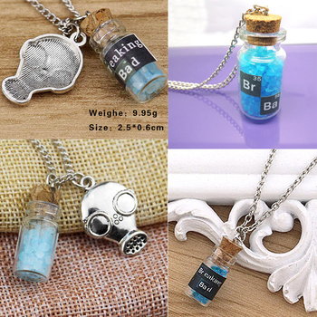 Breaking Bad Movie El Camino: A Breaking Bad Cosplay Blue Vintage Salt Shaker Necklace Pendant Gifts Classic image
