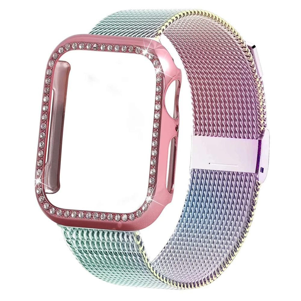 Milanese Loop Bracelet+case For Apple Watch Band 44 Mm 40m IWatch Band 42mm 38 Mm Stainless Steel Strap For Apple Watch 4 5 3 21