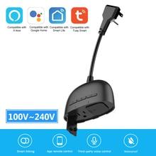 Tuya Waterproof Smart Plug Wifi Smart Socket Outdoor Socket Time Setting Outlet Voice Control for Alexa Google Home US Plug