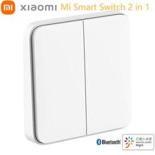 Xiaomi MIJIA Mi Smart Switch 2 in 1 Xaiomi Button Original Bluetooth Wall Network Smart Linkage Xaomi Home Light Lamp Switches