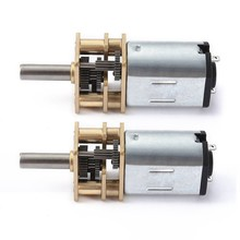2 Pcs DC 6V Micro-Speed Reduction Motor Mini Gear Box Motor with 2 Terminals for RC Car Robot Model DIY Engine Toy , 300RPM & 15(China)