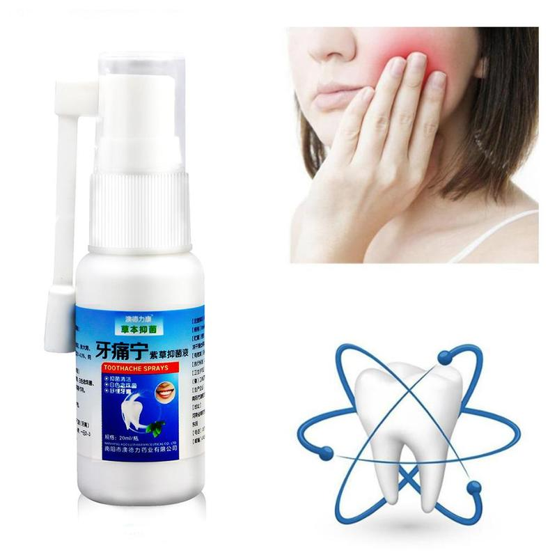 20ml Bacteriostasis Toothache Spray Remove Periodontitis Relief Teeth Worms Cavities Pain Oral Tooth Dental Cleaning Care Sprays
