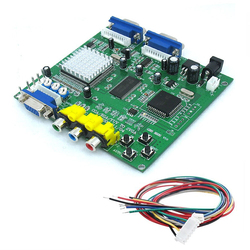 1pc RGBS to VGA Converter Board GBS8220 RGBS Signal to VGA Dual Output HD Video Converter Board Moudle with Wire