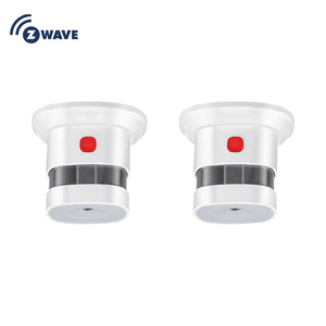 Image 1 - HAOZEE Sensor de humo z wave Plus Smart Home, versión UE, 868,42 mhz, detector de humo por ondas Z, funciona con batería, 2 unids/lote