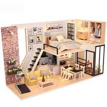 Миниатюрный Кукольный домик «сделай сам» модель кукольного домика