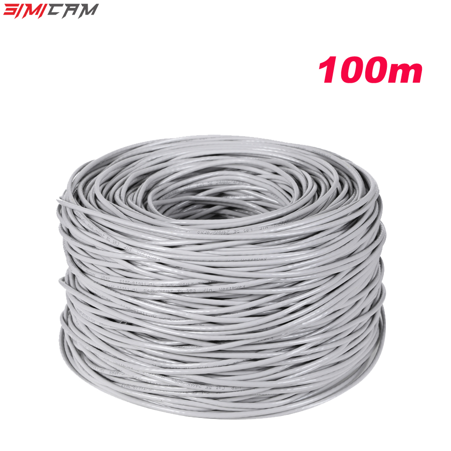 RJ45 Ethernet Cable 100M For CCTV IP Camera LAN Cable CAT5 CCTV System Accessories LAN Cord