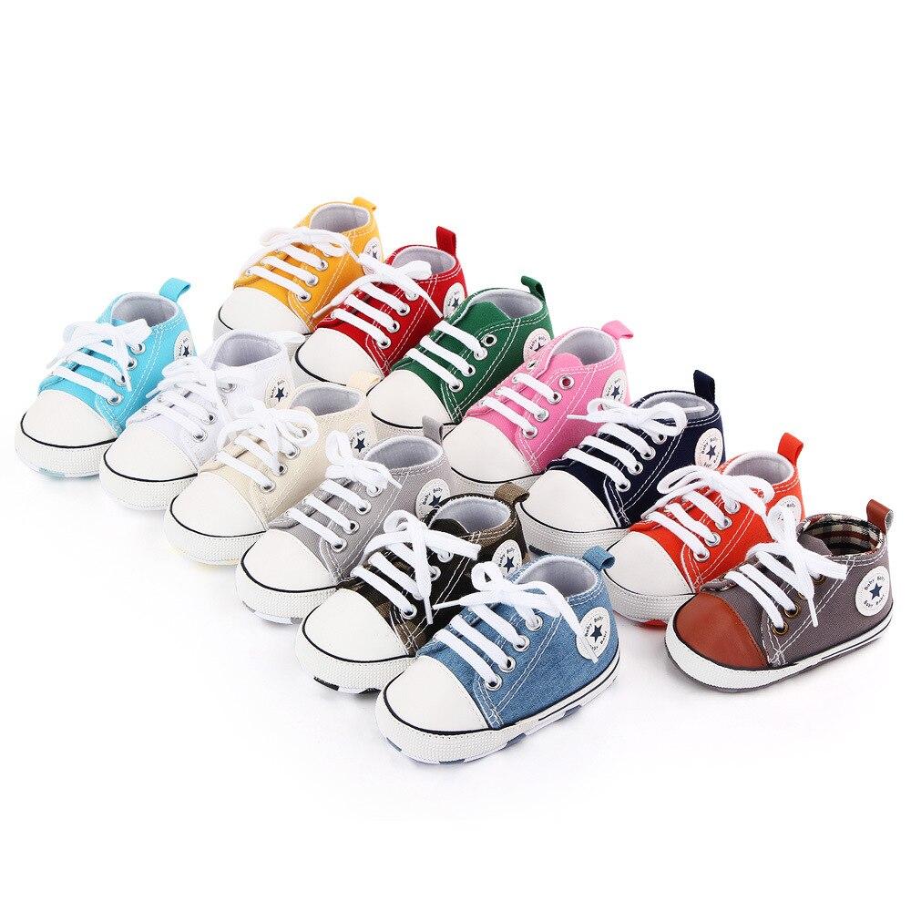 Детская обувь для мальчиков и девочек; Твердые кроссовки со звездами; Хлопковая мягкая нескользящая подошва; Обувь для новорожденных; Обувь для начинающих ходить; Повседневная парусиновая обувь для малышей 3