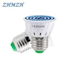 110 220v uv esterilização lâmpada e27 ultravioleta germicida lâmpada led 48 60 80 leds desinfection lâmpada smd2835 led lâmpada uv