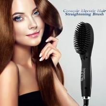 Ceramic Electric Hair Straightening Brush Hair Straightener Comb Girls Ladies Wet Dry Hair Care Styling Tools Hair Hair Curlers