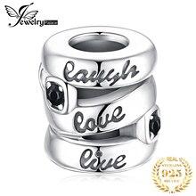 JewelryPalace смеяться любовь Жить стерлингового серебра 925 оригинальный бусины подвески для браслет оригинальные украшения