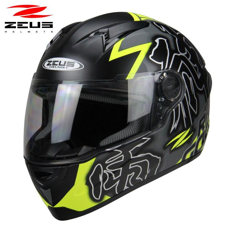 Zeus Motorcycle Full Face Helmet Off Road Vehicle Motobike Racing Capacete Genuine Abs Material 811 Helmets Aliexpress