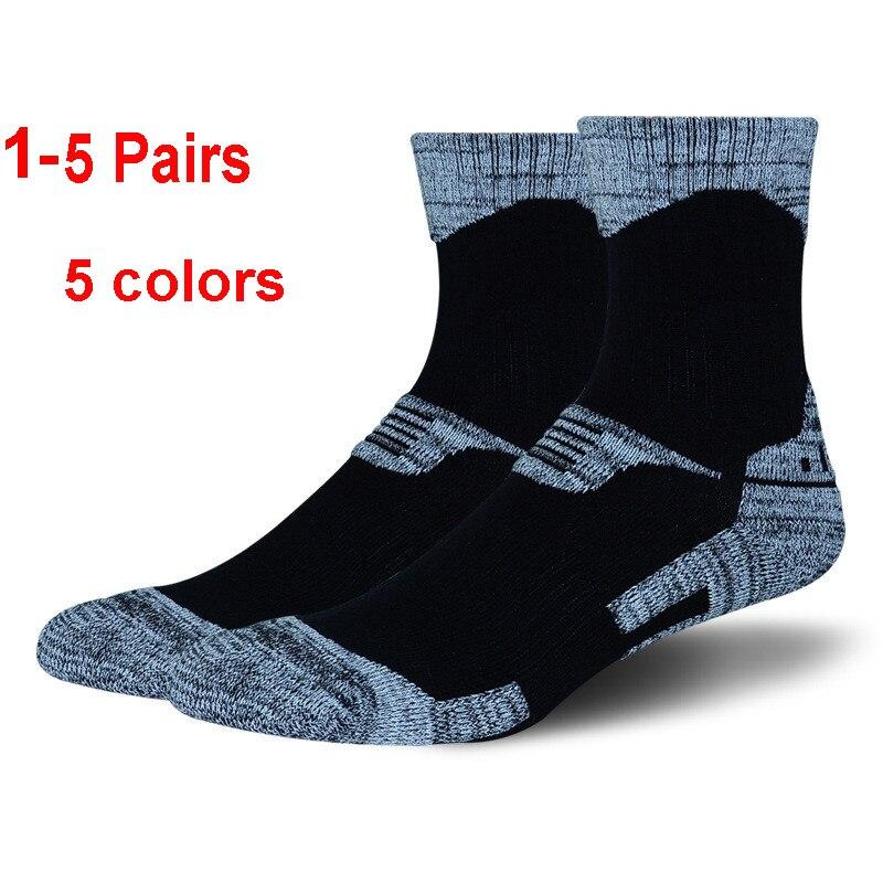 1-5Pairs Winter Thermal Ski Socks Men Women Sports Snowboard Socks Thermosocks Cycling Trekking Hiking Socks 2019