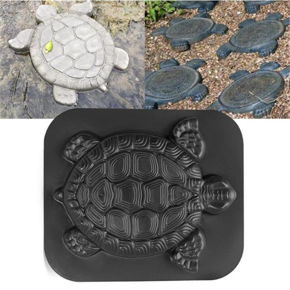 cheapest Plastic DIY Path Maker Mold Hexagon Manually Paving Cement Brick Molds for Garden Decor  Black
