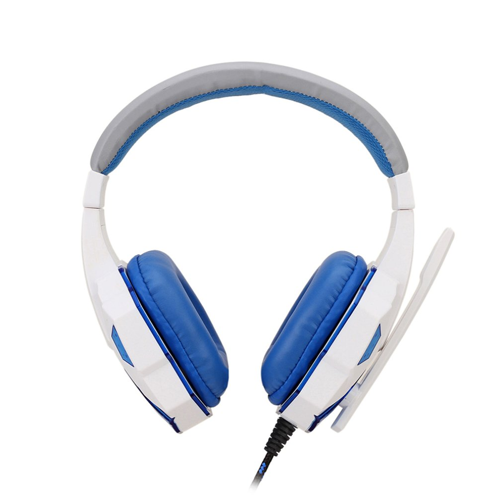 Blue Adjustable Length Hinges 3.5mm Surround Stereo Gaming Headset Headband Headphone with Mic for PC 2 Color for Choice