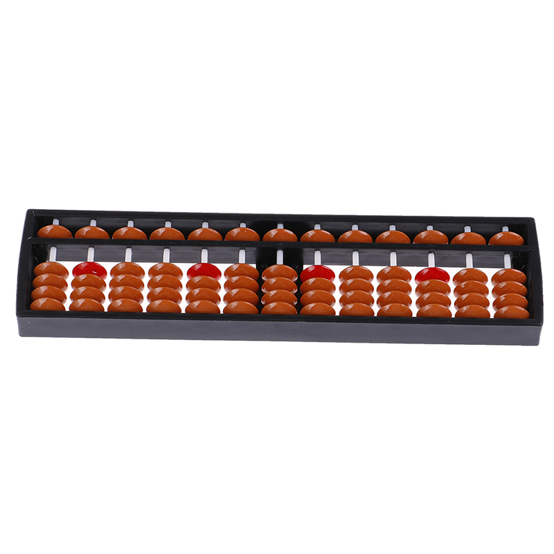 Traditional 17 Digits Abacus Math Business Chinese Abacus Educational Toys  Soroban Beads Column Kid School Learning Aids Tool