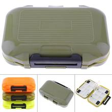 цена на 12 x 7 x 2cm Waterproof Sealing Double Side 12 Compartments Bait Lure Hooks Case Carp Fly Fishing Accessories Storage Boxes Hot