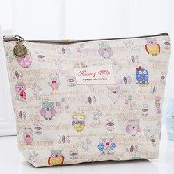 Hot Dieren 3D Afdrukken Cosmetische Case Leuke Uil Patroon Muti-Functionele Vrouwen Cosmetische Organizer Bag Travel Toilettas Make Up tas