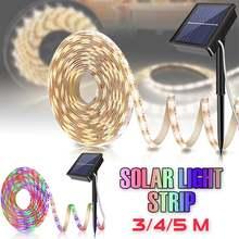 Солнечная приведенная в действие 5m 150 Светодиодные ленты светильник