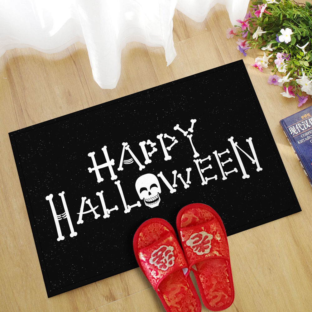 1 pc Halloween creative door mat ghost festival pad water absorption anti-skid baby velvet bathroom carpet 40*60cm/45*70cm