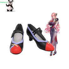 Cosplay Shoes Long-Boots Custom-Made One-Piece Black Red for Party Christmas Halloween