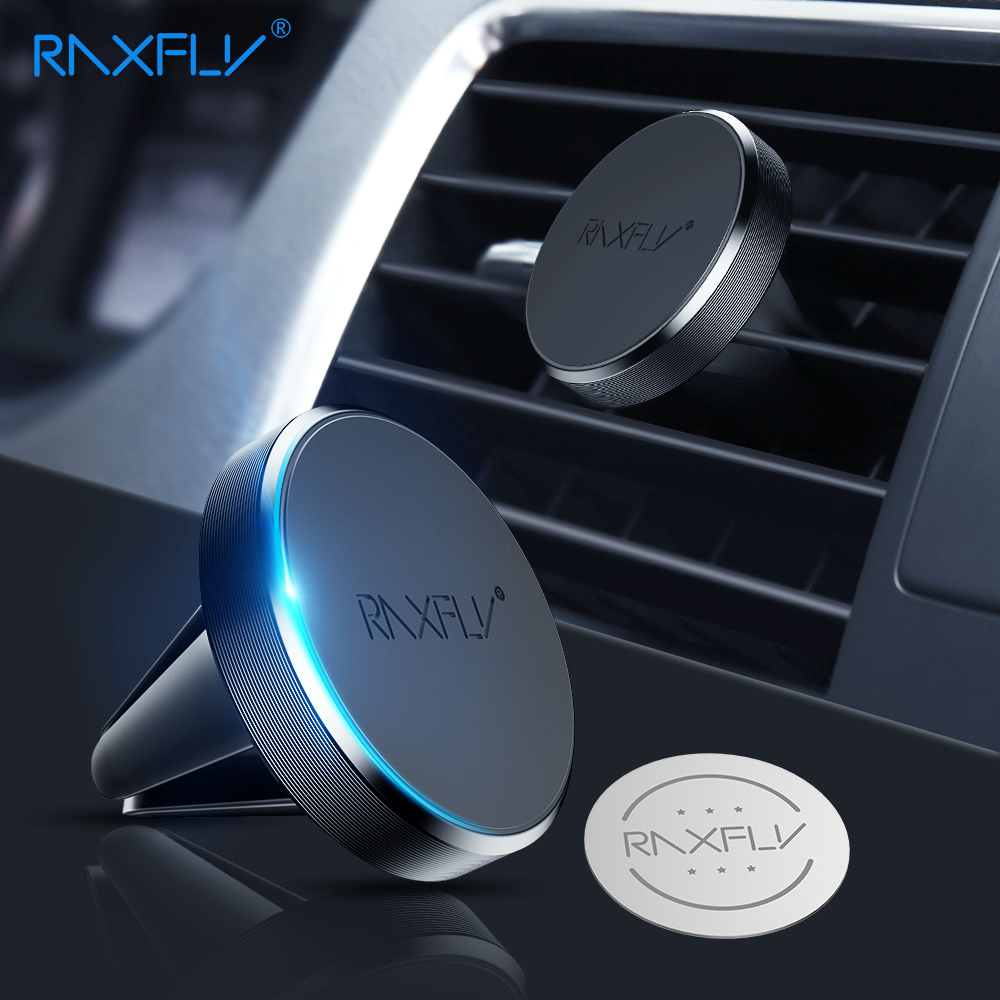 RAXFLY Magnetic Phone Holder Car For Redmi 4X Note 5 Pro Air Vent Mount Holder For Phone in Car Magnet Stand For iPhone X XS MAX