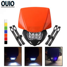 7 Цвета светодиодный moto rcycle фара маска головной светильник