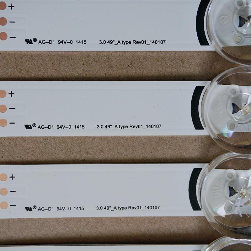 """עכברים - מקלדות 100% חדש תאורת LED אחורית רף טלוויזיה אינץ 49 LG 49Lb5550 49LF5500 Innotek ד.ר.ת 3.0 49"""" A / B סוג 6916L-1944A 6916L-1945A (2)"""