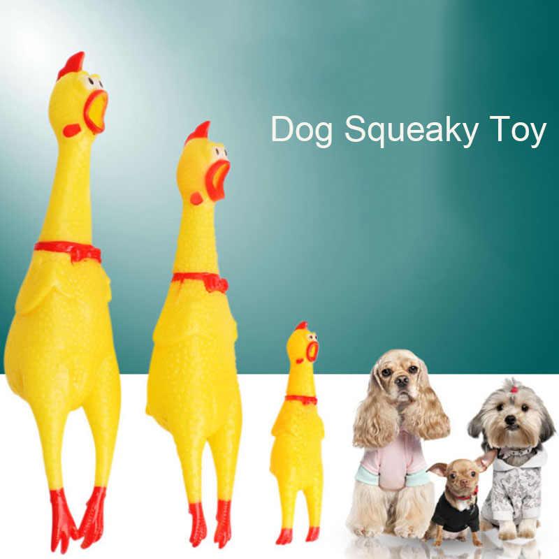 Snailhouse 2019 vendita calda urlando pollo animali domestici giocattoli per cani spremere suono cigolante giocattolo divertente gomma di sicurezza per cani giocattoli da masticare molari