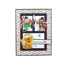 Naifumodo Circus Animal Transparent Sets Clear Stamps and Dies 2019 for Card Scrapbooking DIY Album Embossing Paper Craft цена
