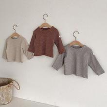 T-Shirt Baby Clothing Long-Sleeve Boys Striped New Autumn Cotton Tops Girls Kids Children's