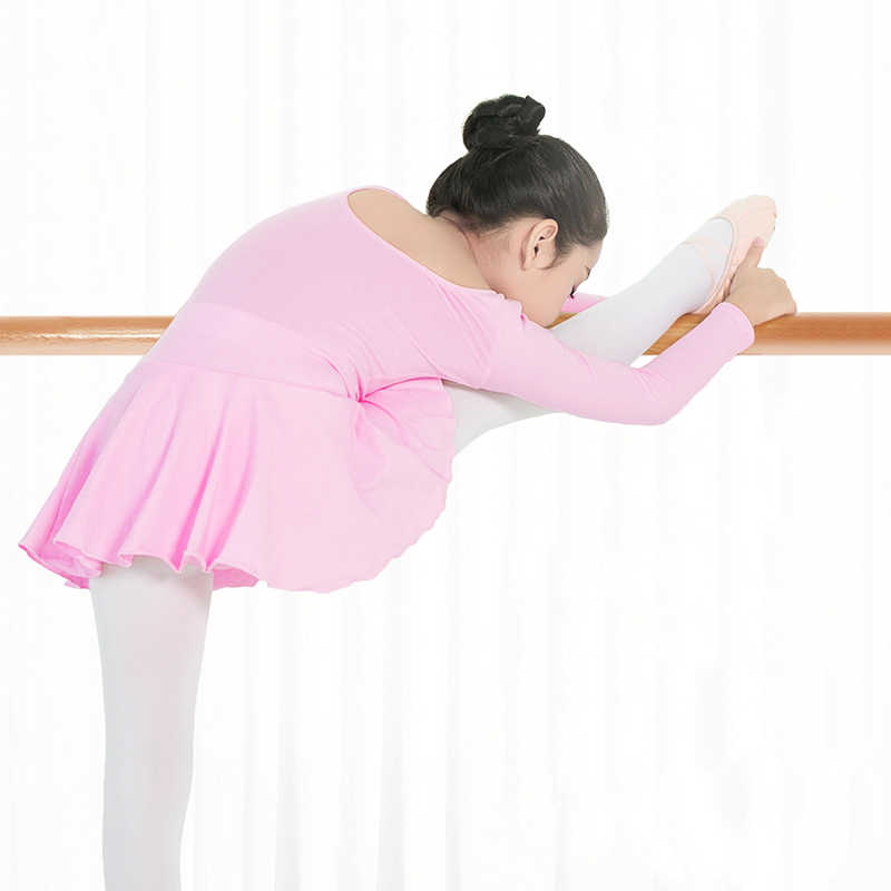 Niños gimnasia falda de Ballet leotardo niñas básica de algodón Ballet danza leotardo niños bailarina vestido trajes de baile