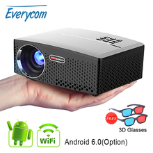GP80 GP80UP LED Mini Portable Projector Home Theater Support Full HD 1080P 4K Op